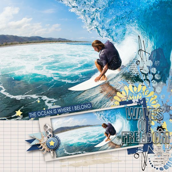 Surf, sand and the 4th by WendyP Designs http://www.digitalscrapbookingstudio.com/personal-use/?subcats=Y&features_hash=S39 Stock photo