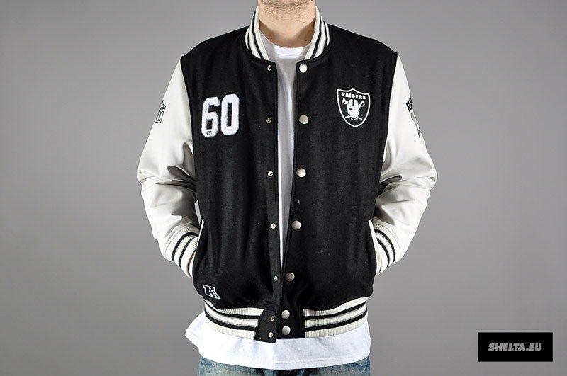 036b6dcd3a6 Majestic NFL Oakland Raiders Gridiron Letterman Jacket