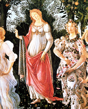 Recorte: Primavera de Boticelli