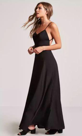 Schwarz Cocktailkleid Lang mit offener Rückseite | AbendKleider ...