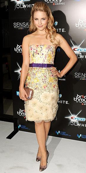 Dianna Agron in Carolina Herrera (Breakthrough Of The Year Awards)