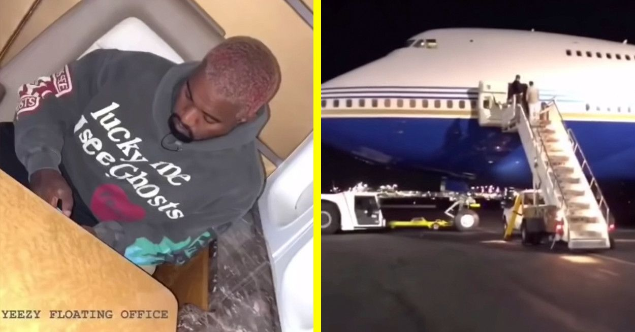Kim Kardashian And Kanye West Flew Privately On A Boeing 747 And People Are Mad Kim Kardashian And Kanye Kim Kardashian Kardashian
