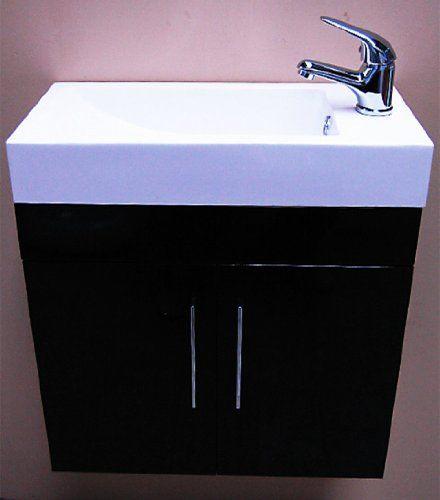 Zola Bathroom Mirrors zola high gloss black square basin wall hung bathroom furniture