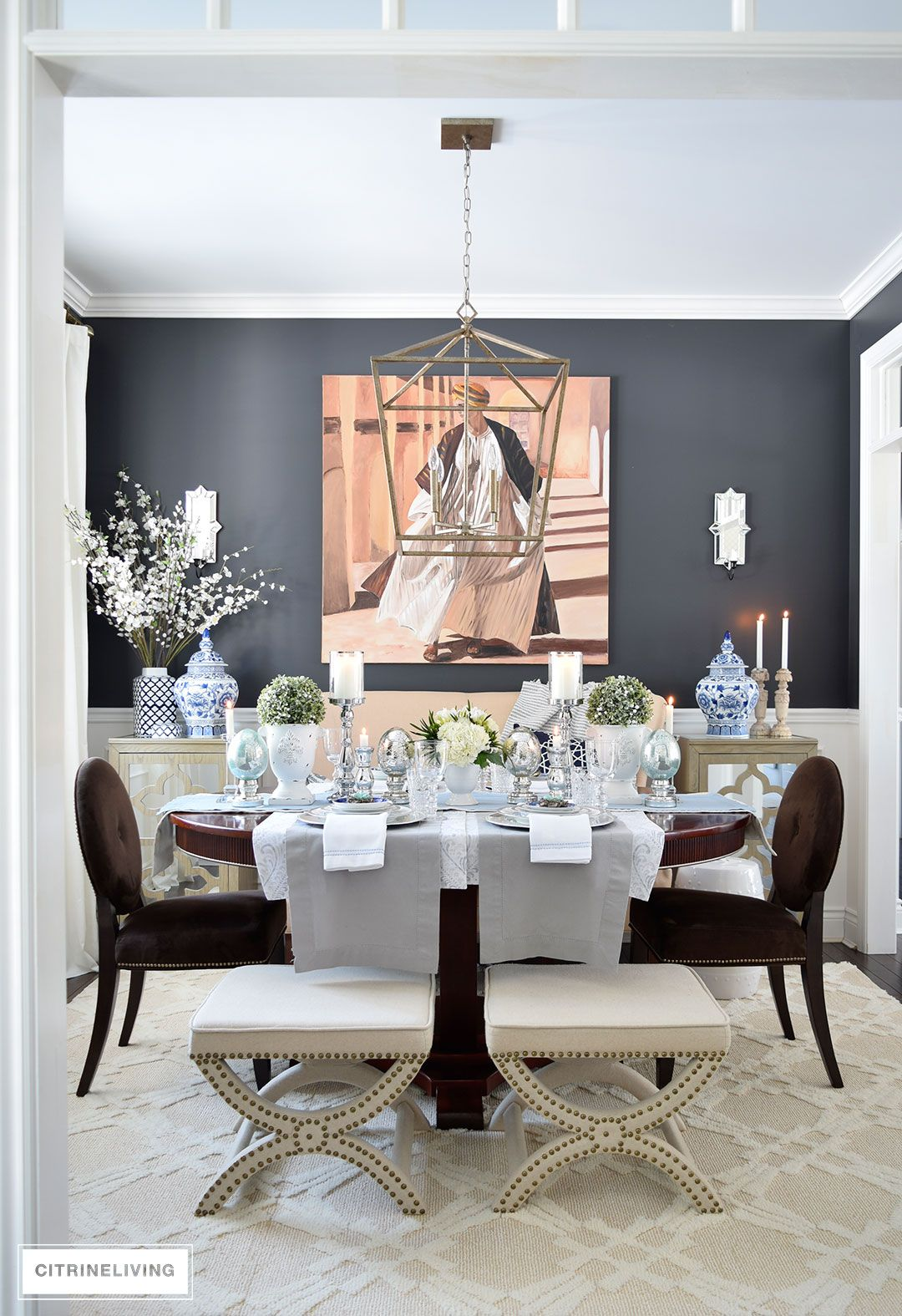 21 Easy Unexpected Living Room Decorating Ideas: A SIMPLE AND ELEGANT EASTER TABLESCAPE