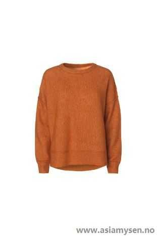 enkel stil By Malene Birger cayenne Overdeler Oransje Orange Biagio genser QO58BQ4507 - Kvinner Klær