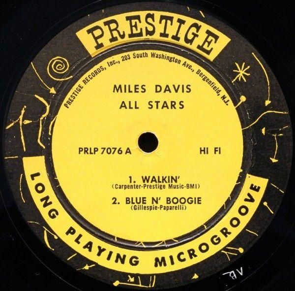 Miles Davis All Stars Walkin In 2020 Miles Davis Vintage Records All Star