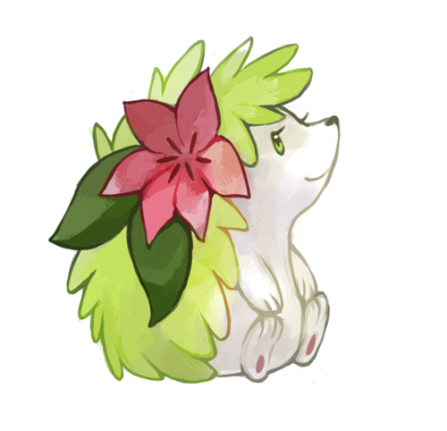 Shaymin is the hedgehog Pokemon. He is literally a hedge ...