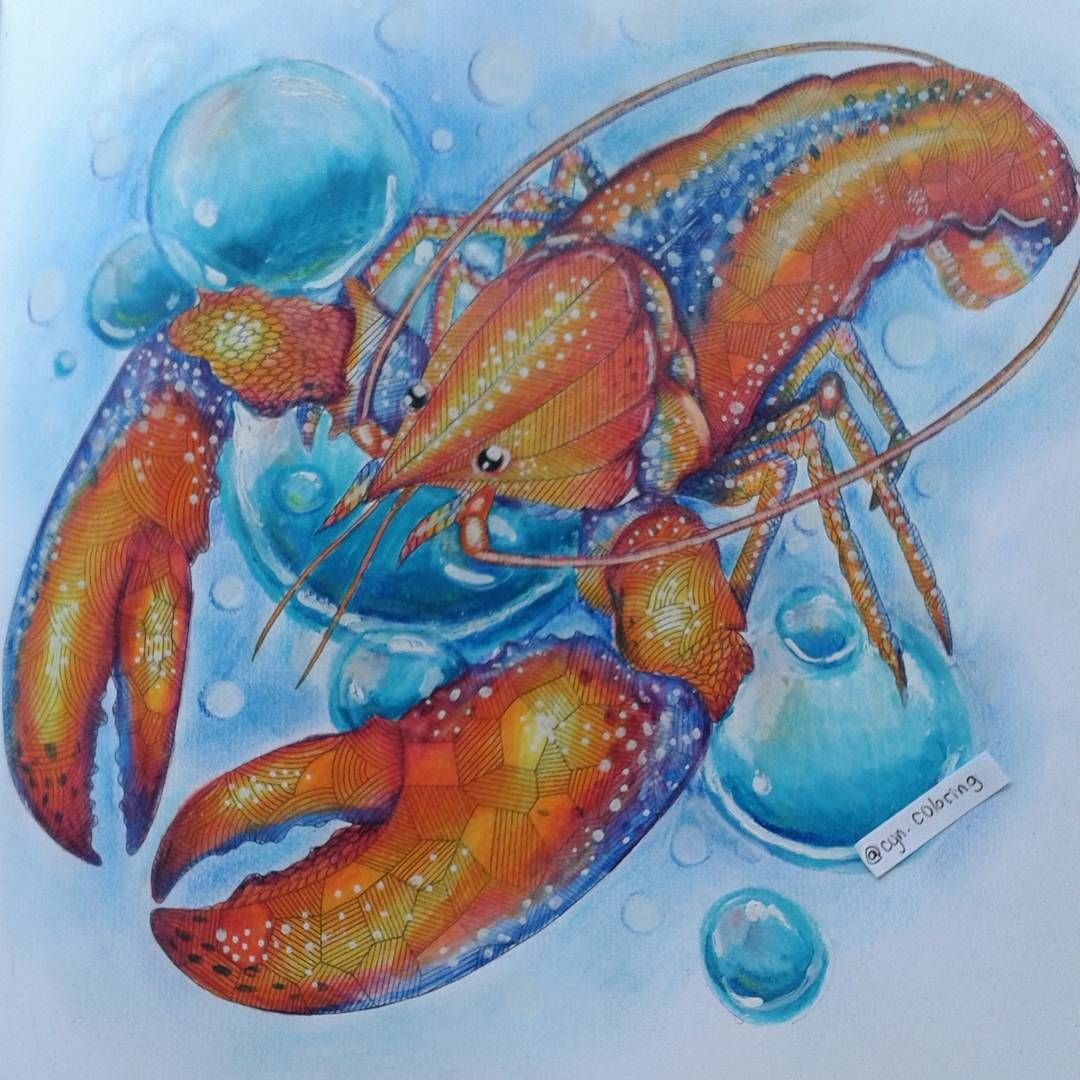 Little Lobster Milliemarotta Animalkingdomcolouringbook Prismacolor PrismacolorAnimal KingdomColoring BooksSeafoodVintage