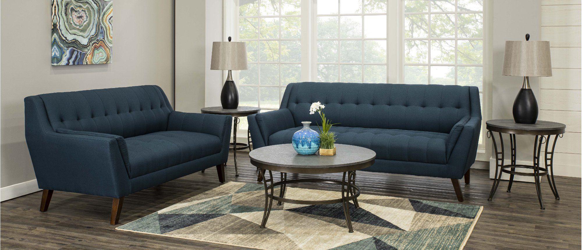Navy Blue 5 Piece Living Room Set Celeste 5 Piece Living Room
