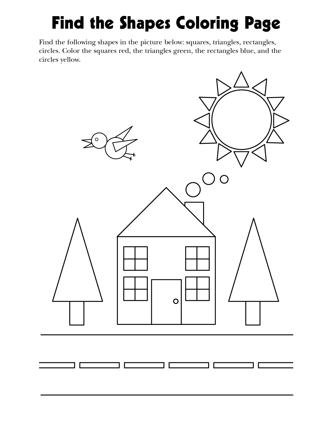 Coloring shapes worksheet - Coloring And Learning The Shapes Wir Lernen Die Formen