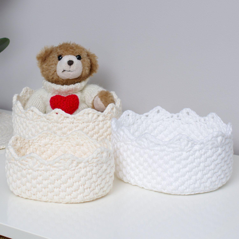 Crochet Basket Pattern - Oval Nesting Baskets - PDF | MANDALA ...