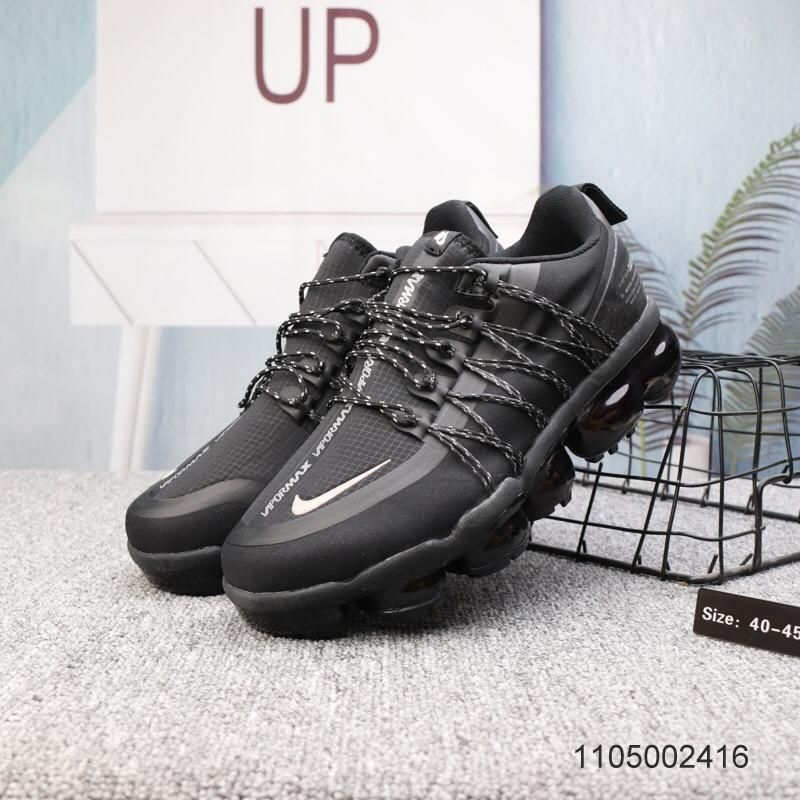 New Nike Air Vapormax Run Utility Black Reflect Silver Mens Running ... 2a82d6546