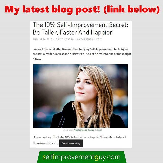 PRESS BELOW TO VISIT BLOG!  @self_improvement_blog @self_improvement_blog  Have a GREAT day!  The Self-Improvement Guy