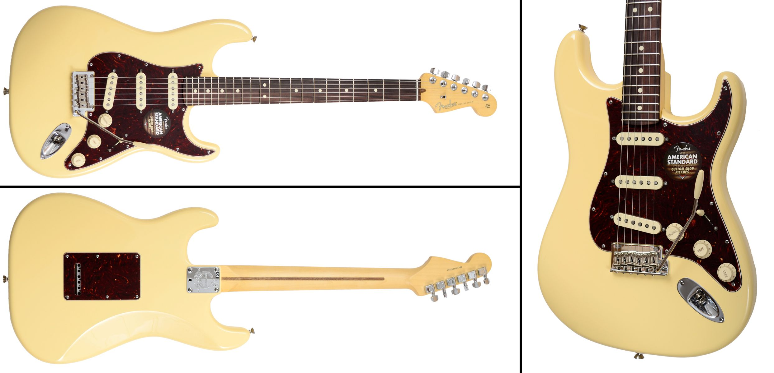 Fender Limited Edition American Standard Stratocaster - Vintage White, Rosewood