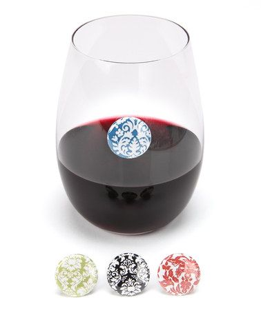 Take a look at this Il Bere Damask Wine Charm Set by Wine & Cheese Collection on #zulily today!