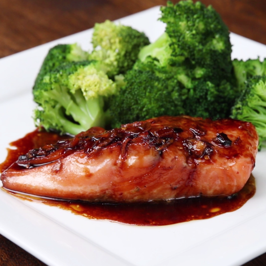 Photo of Honey Soy Glazed Salmon Recipe by Tasty
