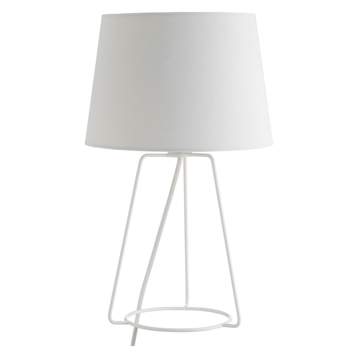 Lula white metal table lamp with fabric shade buy now at habitat lula white metal table lamp with fabric shade buy now at habitat uk mozeypictures Choice Image