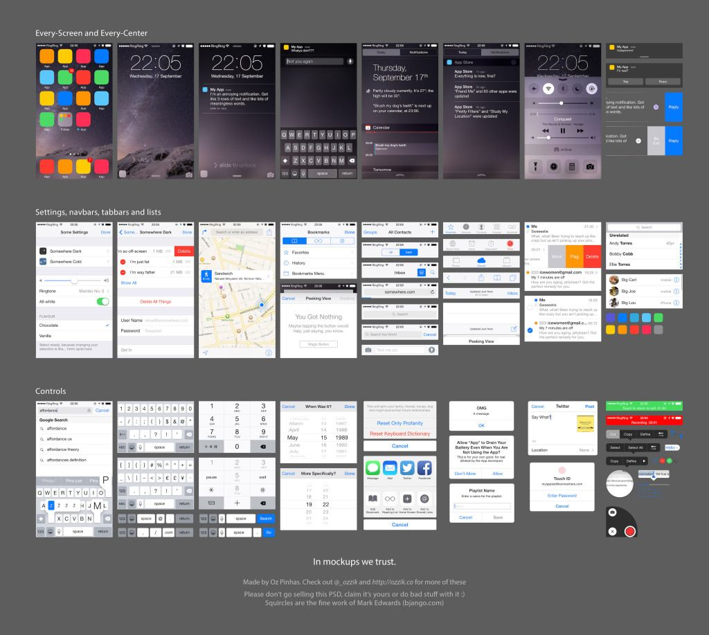 10 free ui templates for android lollipop and ios 8 design