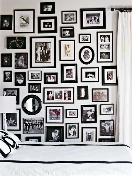 picture arrangements on wall template | Picture Frame Arrangement -  MyHomeIdeas.com
