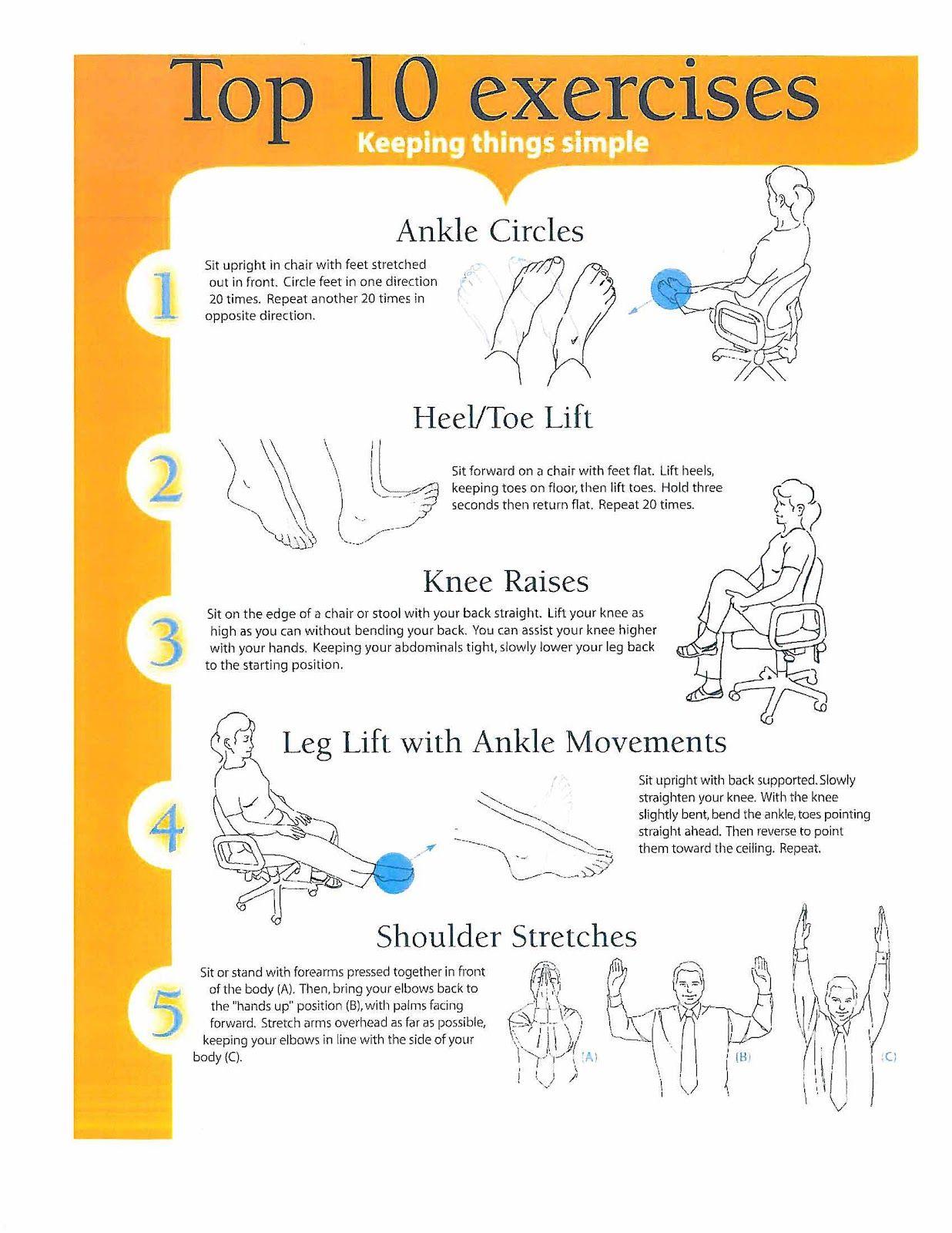 Chair exercise for seniors - Chronic Illness