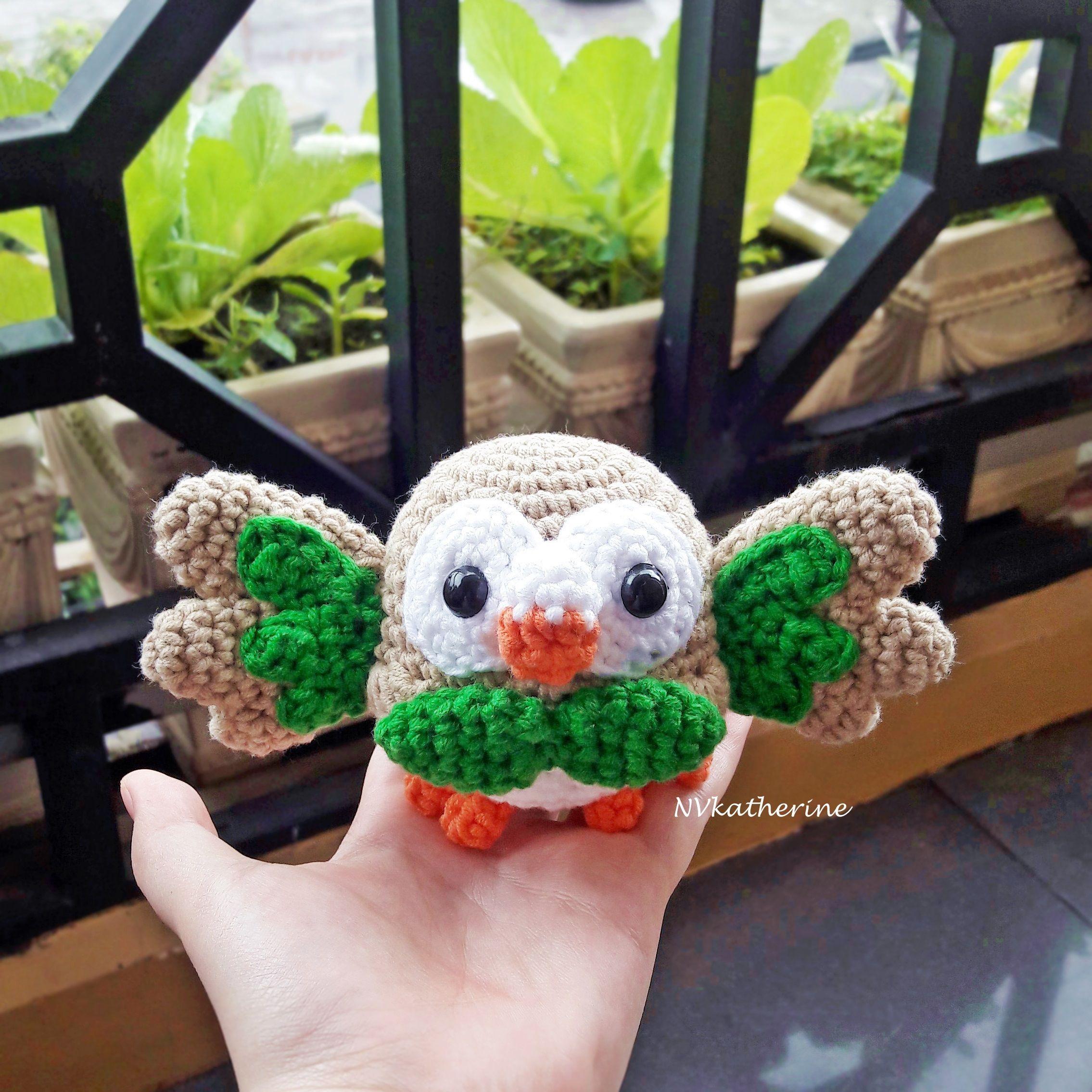DISCOUNTED SHIPPING Chibi Rowlet Made-to-order Crochet Amigurumi ...