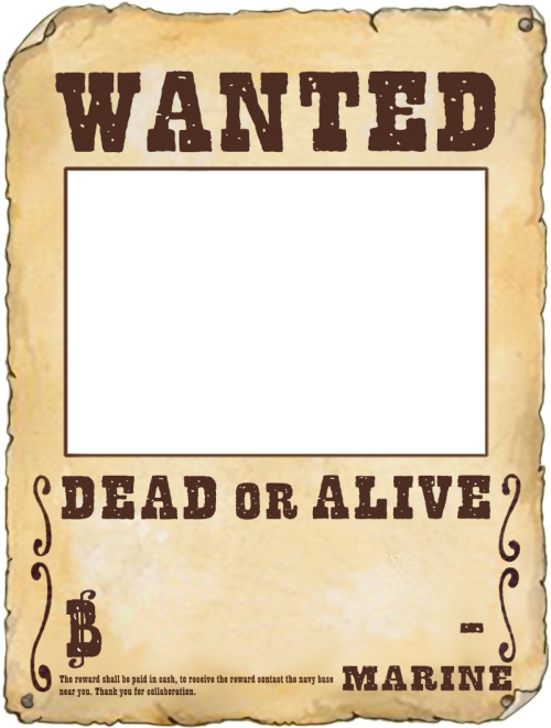 Tutorial How Ro Make Your Own One Piece Wanted Poster In Gimp Desain Gambar Ide