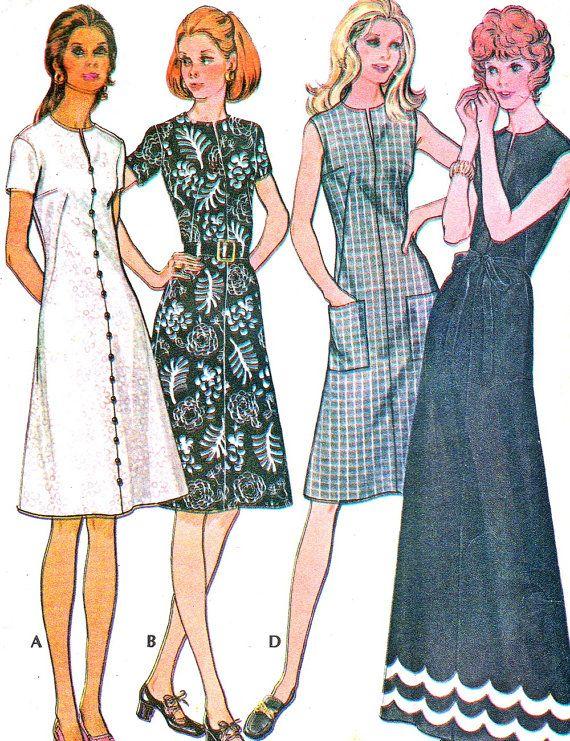 1970s Dress Pattern McCalls 3133 Split Neck A Line by paneenjerez, $10.00