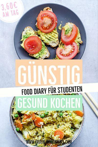 Günstig gesund Ernähren – Studenten Food Diary zum Abnehmen