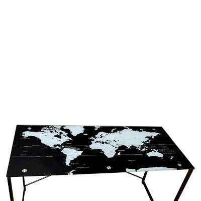 Ellis world map desk black products ellis world map desk black gumiabroncs Gallery