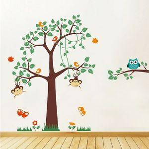 Cheeky Monkeys Swinging In A Tree Nursery 42