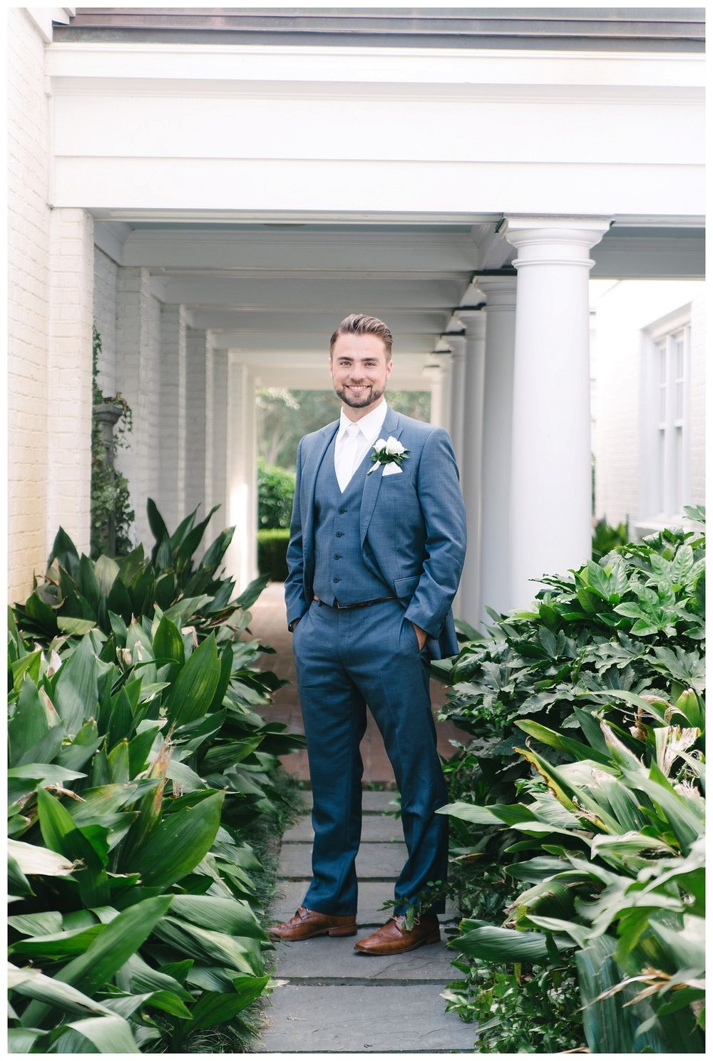 Daniel Island Club Wedding - Charleston -- a well fitting suit is the best accessory for any groom