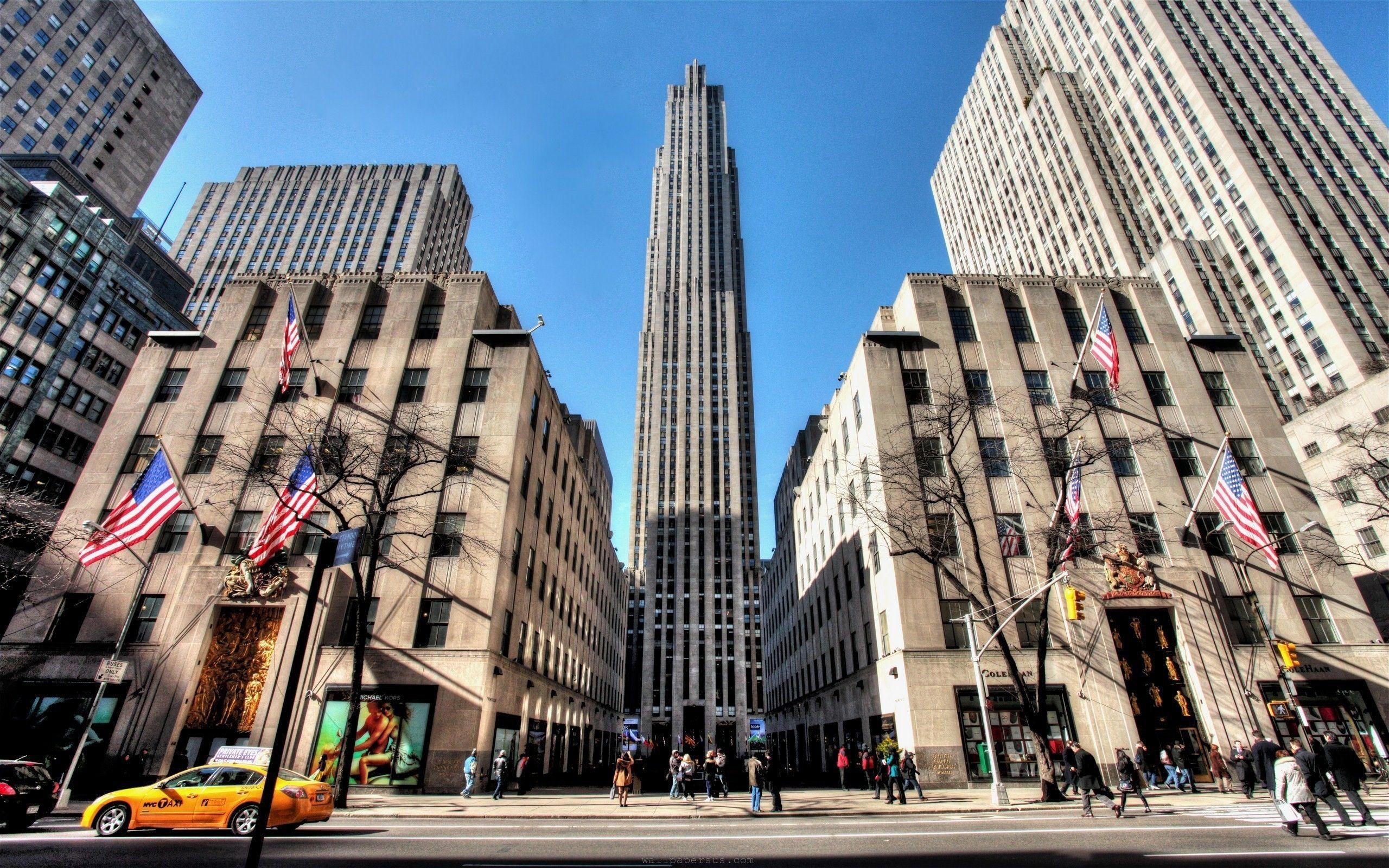 Rockefeller Center   New york city buildings, New york wallpaper ...