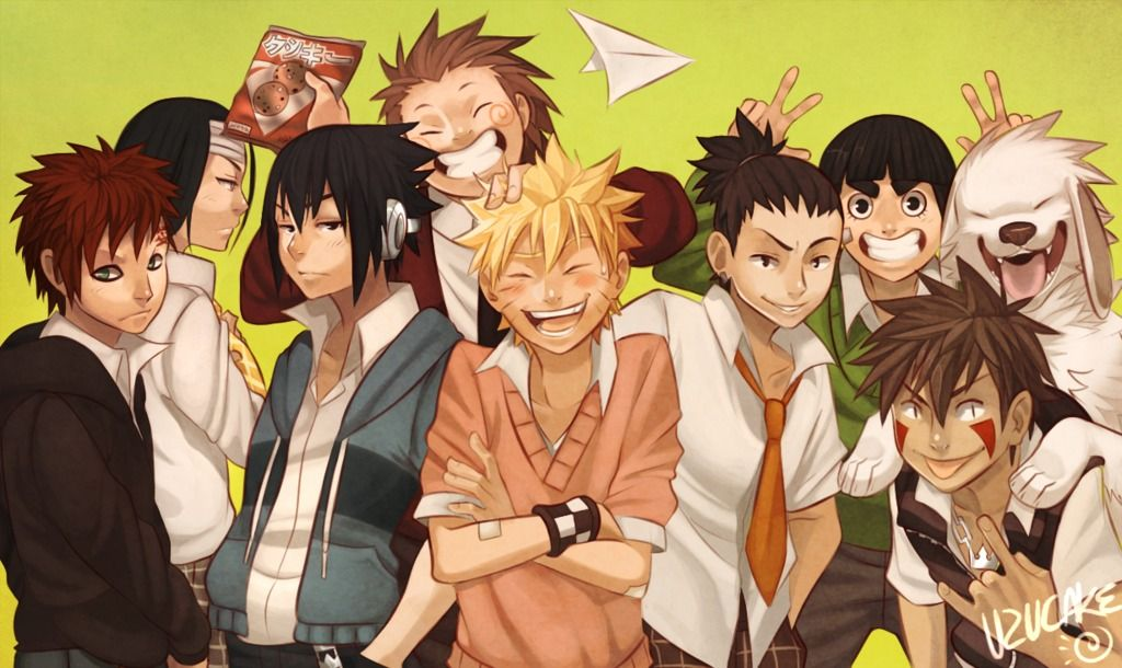 The Gang's All Here by Uzucake <--- SHINO IS NOT THERE! What does the poor guy have to do to get noticed!?!