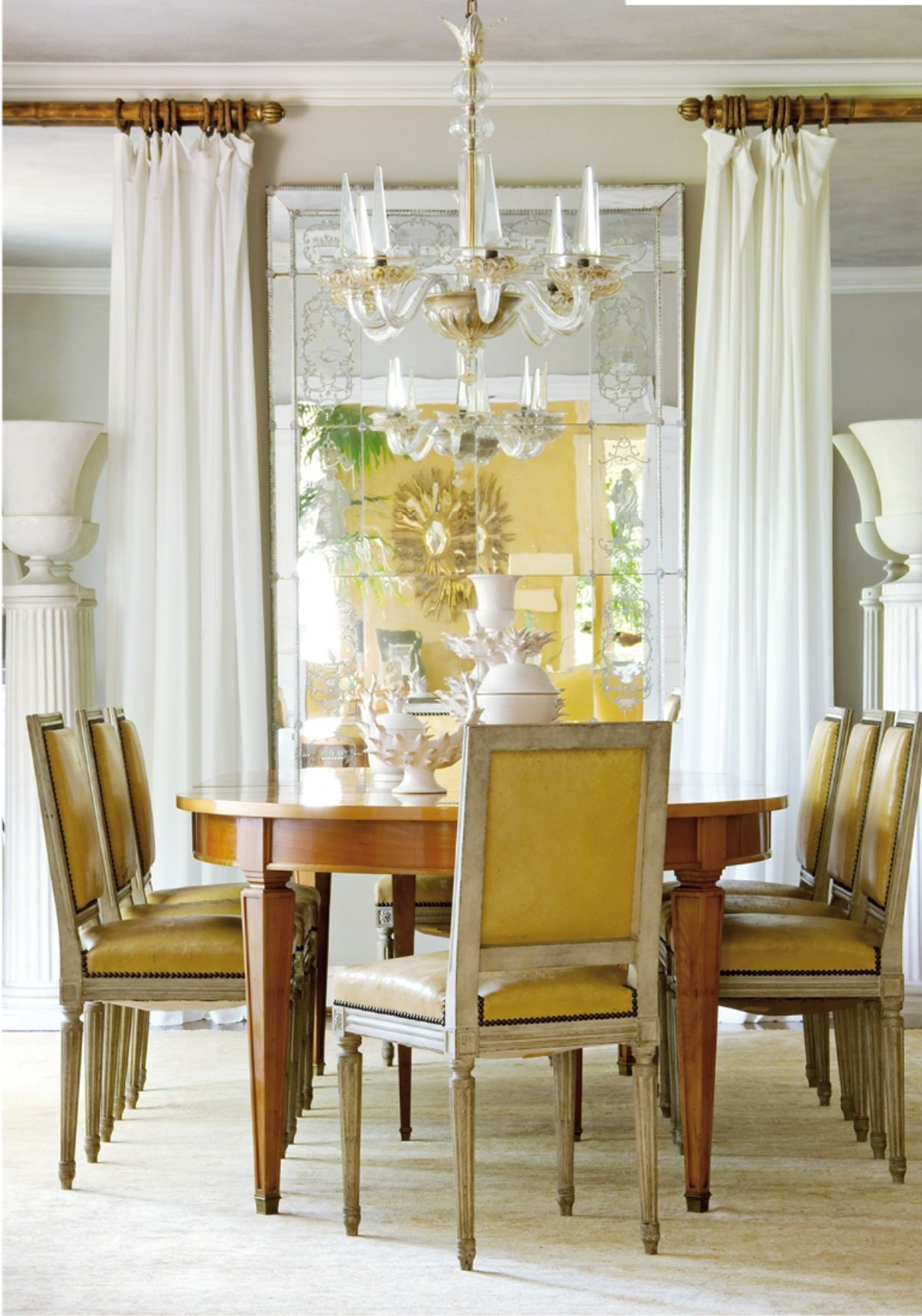 Yellow Interior Design Dining Room Showers Interior Elegant Dining Room