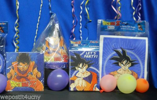 Dragonball Z Party 3 Dbz Hats Blowouts Loot Bags Ebay Dragonball Z Party Party Gift Bags Dragon Ball Party