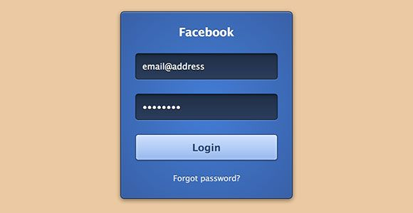 CSS3 Facebook login form | Code stuff | Login form, Html css