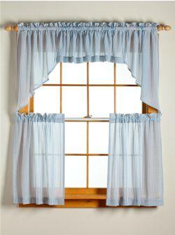 sheer blue curtains