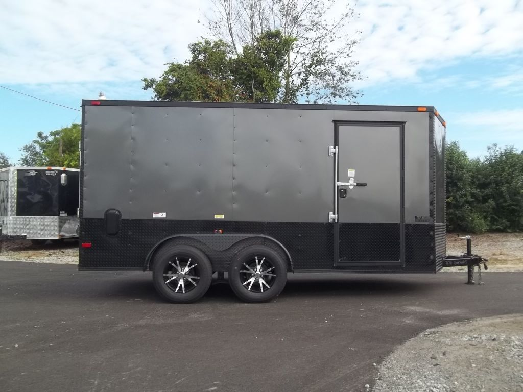 7 X 14 Blackout Enclosed Trailer Enclosed Motorcycle