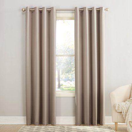 Sun Zero Madison Room Darkening Grommet Curtain Panel Gray