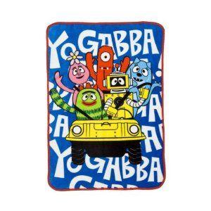 Yo Gabba Gabba naptime blanket. Plush blanket, Toddler