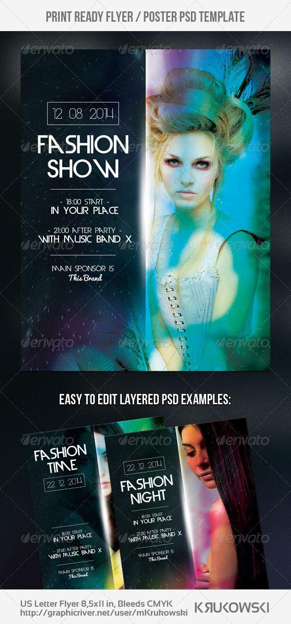 Fashion Show Flyer Pinterest Print Templates Template And Flyer - Free fashion show flyer template