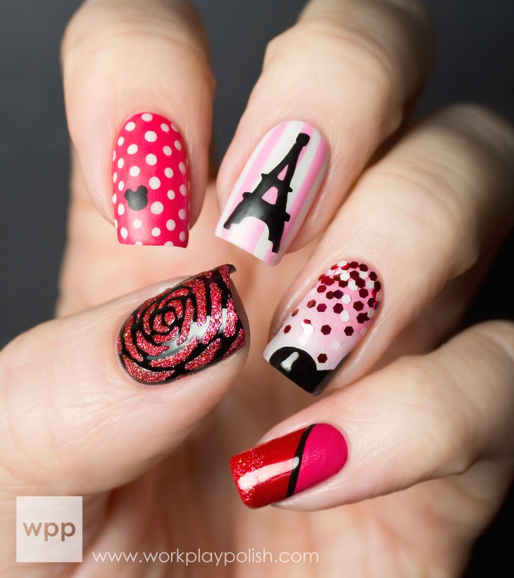 workplaypolish: I'm pretty proud of this mani. OPI asked their ...