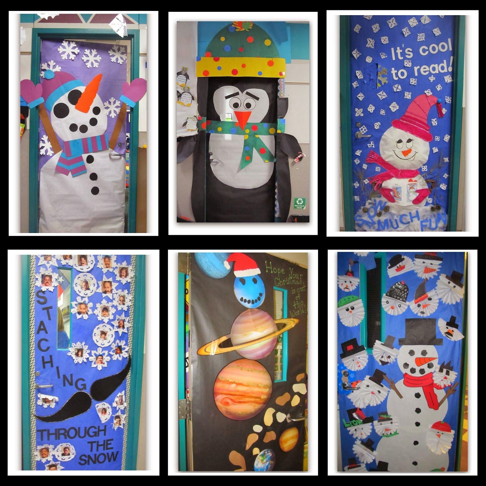 Winter Themed Decorated Classroom Doors Classroom Wall