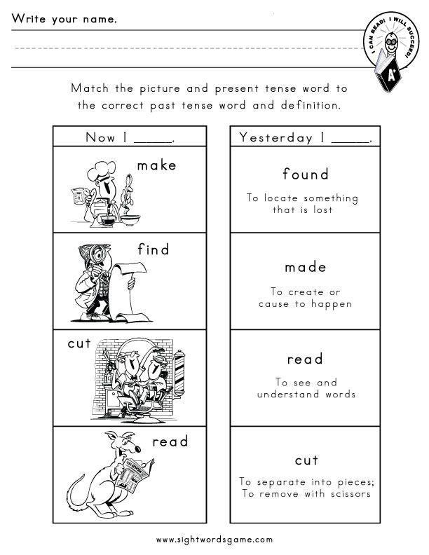 Printable Worksheets free irregular verb worksheets : Irregular-verbs-worksheet-5   Sight Word Worksheets   Pinterest ...