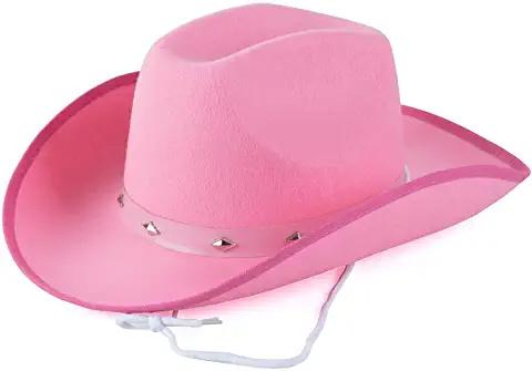 Amazon Com Pink Cowboy Hat In 2021 Pink Cowboy Hat Western Cowboy Hats Cowboy Hats