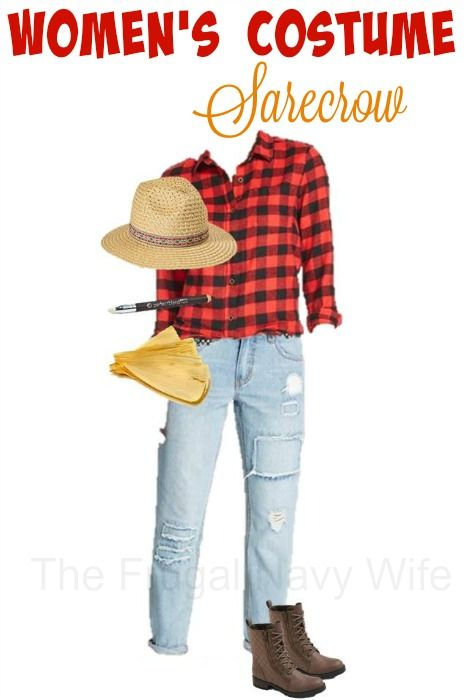 Women\u0027s Scarecrow Costume - Made From Everyday Clothes - The Frugal - halloween costume ideas from your closet