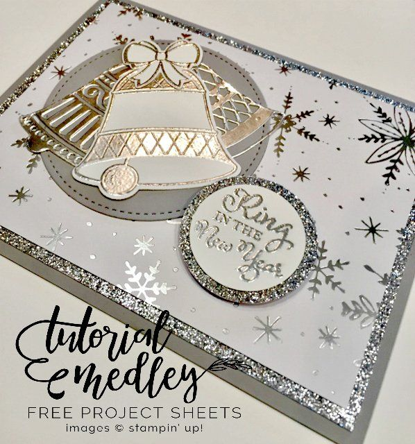Ring In the New Year Card #NewYears #Bells #BellsAreRinging #stamping #stampinup #cards #cardcreations #handmadecards #papercrafts #scrapbooking #thecowwhispererscreativecards