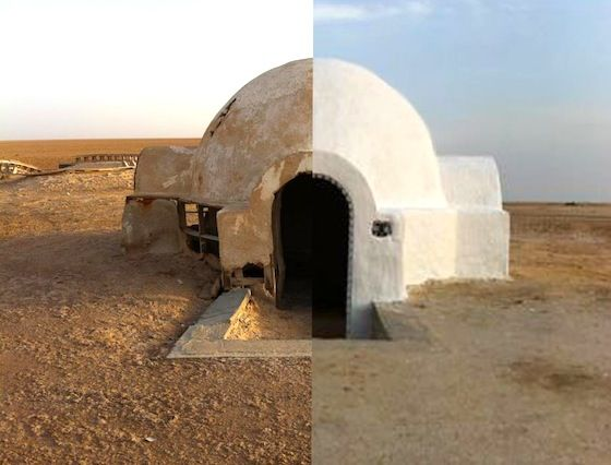 Luke Skywalkers Home Was A Real House In Tunisia It Was Falling Into Disrepair But Was Recently Renovated And Tur Architecture Star Wars Concept Art Tunisia