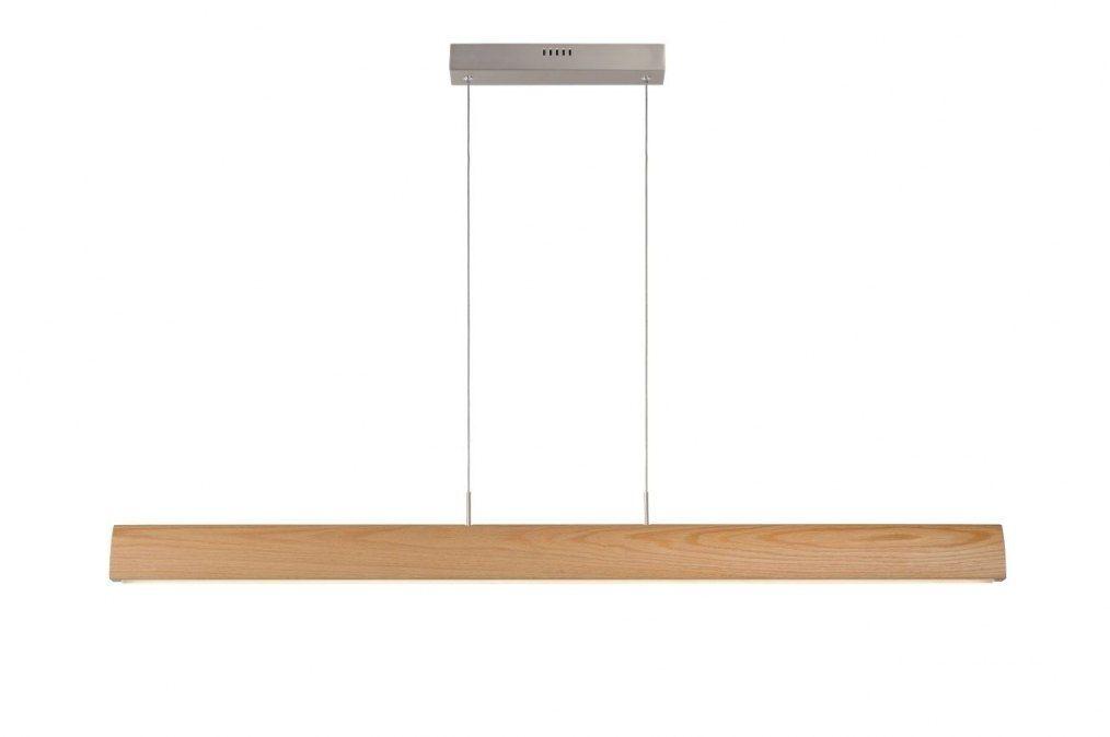 Favoriete Moderne, strakke, dimbare, led hanglamp voorzien van een houten CC01
