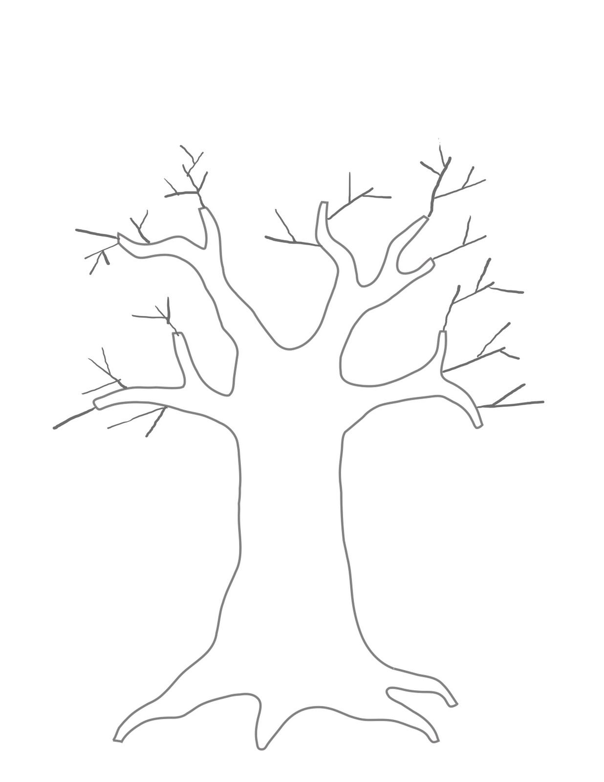 One Branch Family Tree Chart Template  Click On This Tree To Open